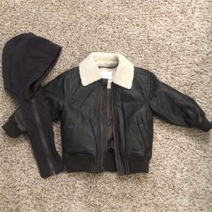 EUC Starting Out brown faux-leather jacket
